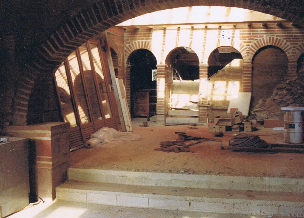 Grande arche et arcades (en chantier)