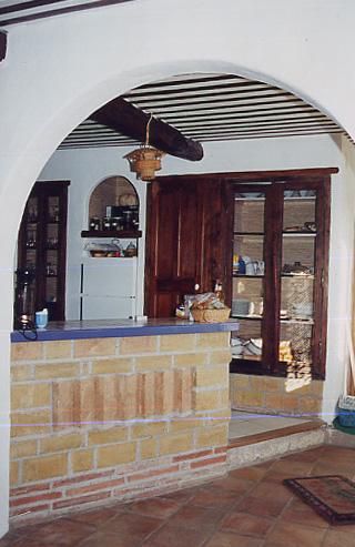 Cuisine, plafond à la provençale