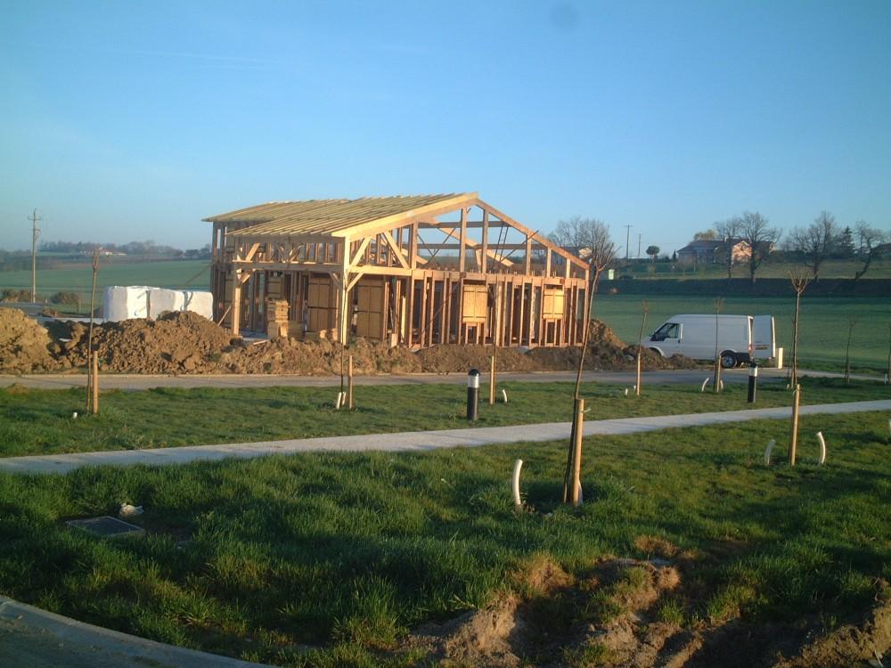 Maison ossature bois au montage