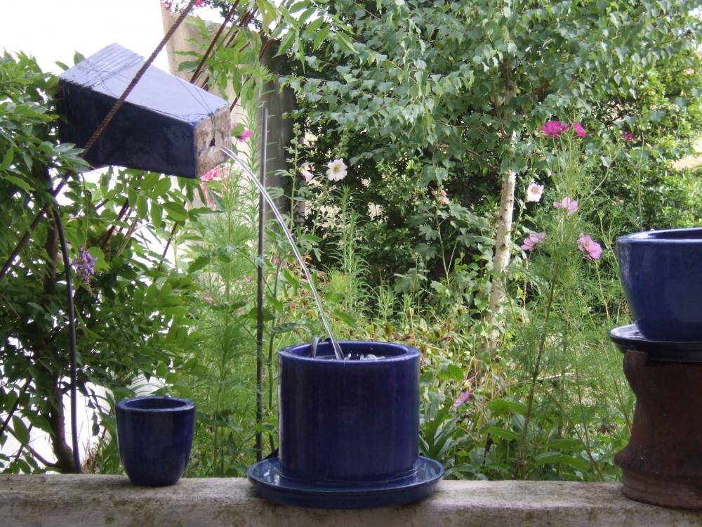 Jeux d'eau dans patio