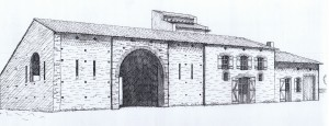 La façade Sud, encre de chine