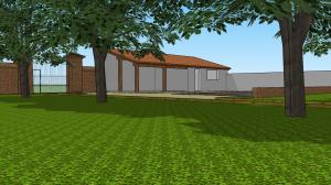 Le jardin, le portail, la piscine et ses dépendances