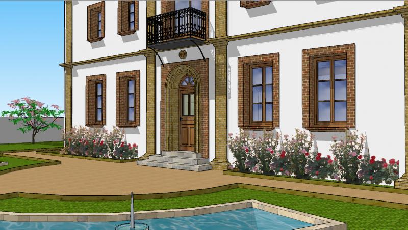 Détails de la façade Sud