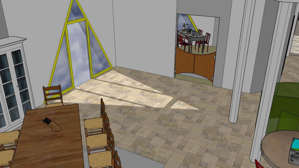 Le coin salle à manger et la cuisine