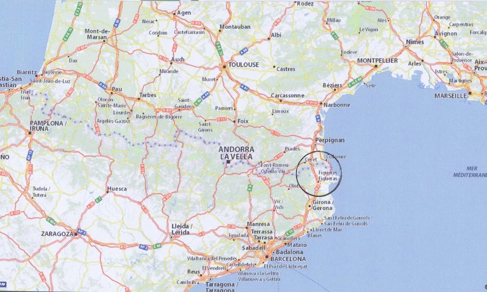 Entre Barcelone, Toulouse et Marseille