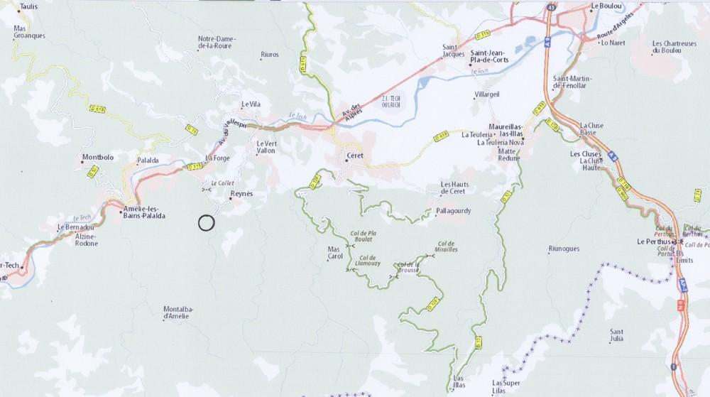 Reynès, commune frontalière avec l'Espagne, le Canigou l'abrite du vent