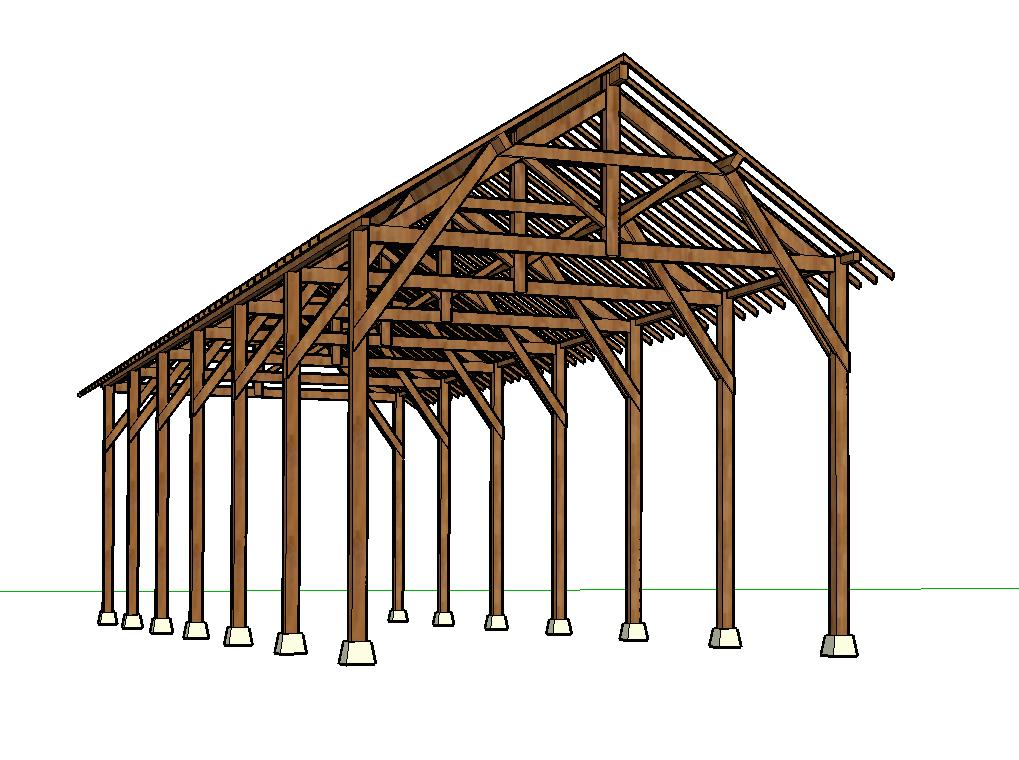 Plans de charpente de hangar