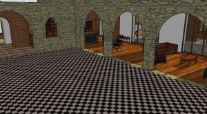 Le salon depuis la nef
