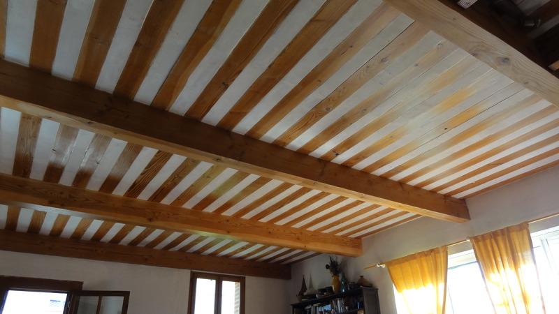 Plafond à la provençale, Pin Douglas